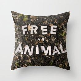 Free the Animal Throw Pillow