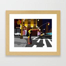 Broadway Kiss Framed Art Print