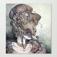 wolf Canvas Prints featuring Vulpes Masquerade, now as a print! by Caitlin Hackett