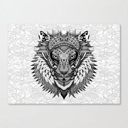lion aztec art pattern Canvas Print