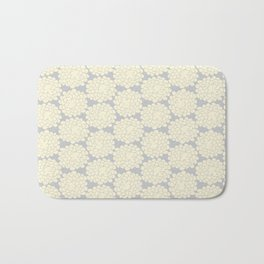 White cotton flower Bath Mat