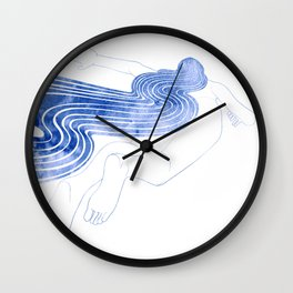Water Nymph XLVII Wall Clock