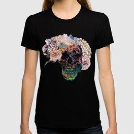 Skull Flowers - MidnightBlue T-shirt