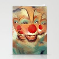clown Stationery Cards featuring clown by robotrake