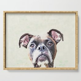 Brindle Boxer Dog Serving Tray