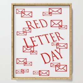Red Letter Day Serving Tray