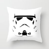 storm trooper Throw Pillows featuring Storm Trooper by WaXaVeJu