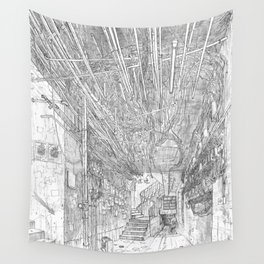 Kowloon walled city. Hong Kong Wall Tapestry