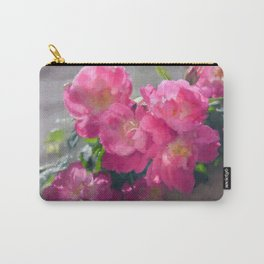 Pink Roses Blooming Carry-All Pouch