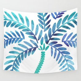 Whimsical Watercolor Palm Tree Wall Tapestry