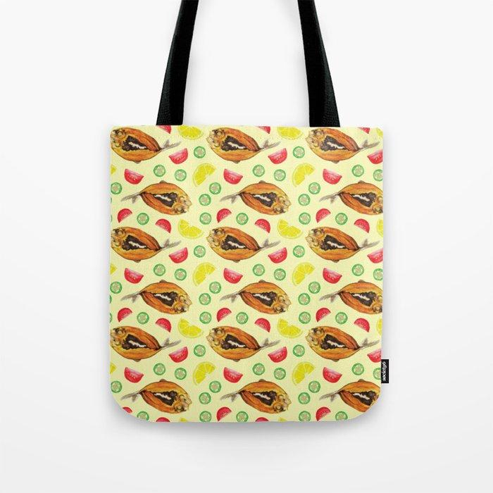 Milkfish Pattern Tote Bag