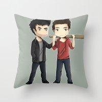 sterek Throw Pillows featuring Sterek by agartaart