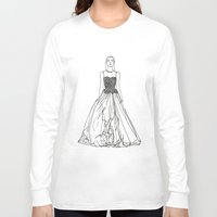 fashion illustration Long Sleeve T-shirts featuring Fashion Illustration by Vanessa Antonina