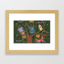 Fairytale tree Framed Art Print
