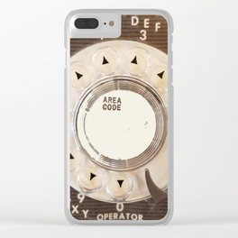 Rotary Phone Dial, Vintage Phone Clear iPhone Case