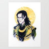 enerjax Art Prints featuring Loki of Asgard by enerjax