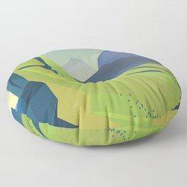 machu picchu travel poster Floor Pillow