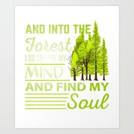 Forest T-Shirt Jungle Camping Gift Art Print