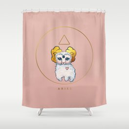 Baby Zodiac Collection - Aries Shower Curtain