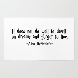 Albus Dumbledore - It does well not to dwell quote - HarryPotter Rug