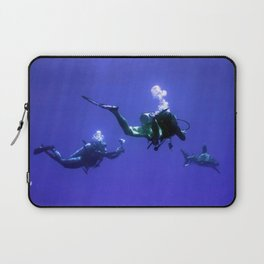 Photographing an Oceanic Whitetip Laptop Sleeve
