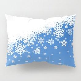 Blue Snowflakes Pillow Sham