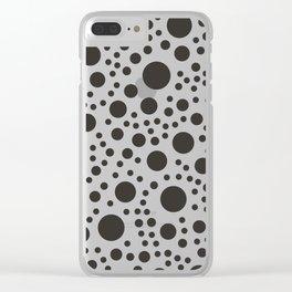 Modern Dot Pattern Clear iPhone Case