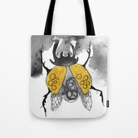 beetle Tote Bags featuring Beetle by Dnzsea