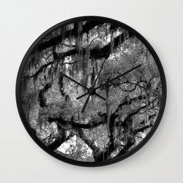 Oak and Moss Wall Clock