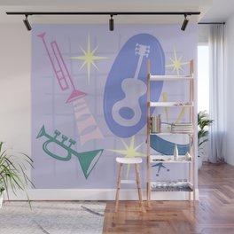 Django Jazz Composition In Purple Wall Mural