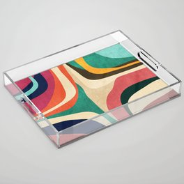 Impossible contour map Acrylic Tray