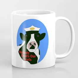 Nobody Beats Our Teats: Milk Delivering Cow Coffee Mug
