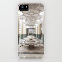 Hall of Ablution - Hassan II Mosque Interior - Casablanca, Morocco iPhone Case