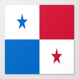 flag of panama-Panama,Panamanian,canal,spanish,San Miguelito,Tocumen,latine,central america,panameno Canvas Print
