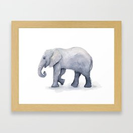 Elephant Watercolor Framed Art Print