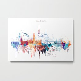 Hamburg City Skyline Metal Print