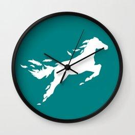 Feather Pegasus Wall Clock