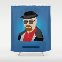 heisenberg Shower Curtains featuring Heisenberg by Kody Christian