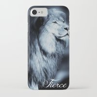fierce iPhone & iPod Cases featuring Fierce by RubyBliss