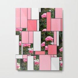 Pink Roses in Anzures 5  Art Rectangles 9 Metal Print