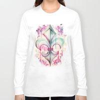 fleur de lis Long Sleeve T-shirts featuring Fleur de Lis by Kerrie Cook
