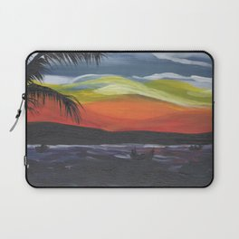 Island Life, Palm Trees, Sunsets and Fishermen Laptop Sleeve