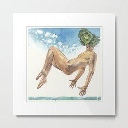 Cabbage Head Metal Print