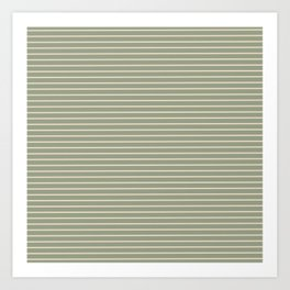 Seafoam Neutral Striped Palette Art Print