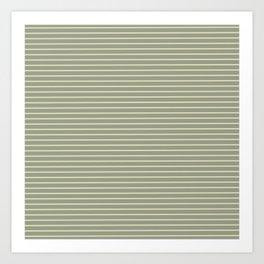 Seafoam Neutral Striped Palette Art Print