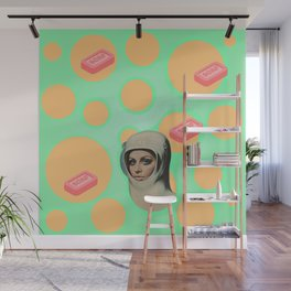 Trippy Vintage Poster Art  Wall Mural