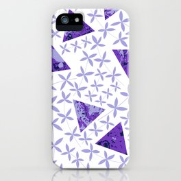 Shapes in Nature : Purple iPhone Case
