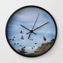Castillo San Felipe Cartagena Wall Clock
