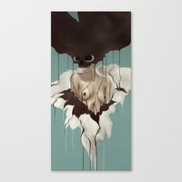 death Canvas Prints featuring Death By Chocolate by Ruben Ireland
