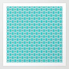 Aqua pattern Art Print